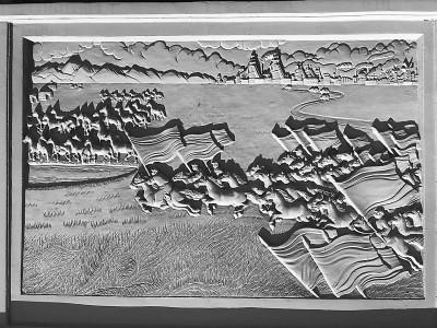 """长江大桥护栏浮雕3D打印还原 """"草原牧马""""再归来"""