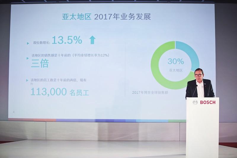 博世中国2017年业绩取得两位数强劲增长