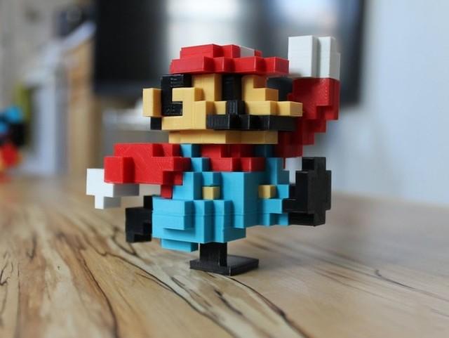 3D打印马里奥像素模型 属于80后游戏玩家的回忆