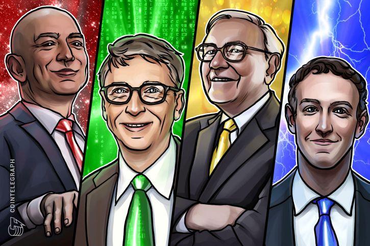 从互联网到区块链:世界五大富豪是如何看待加密货币的?