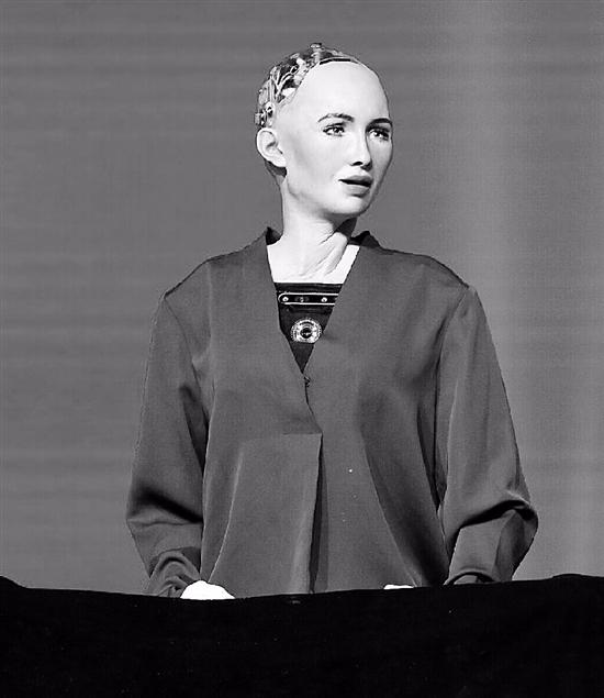 机器人索菲亚: 2040年会给机器人市民待遇