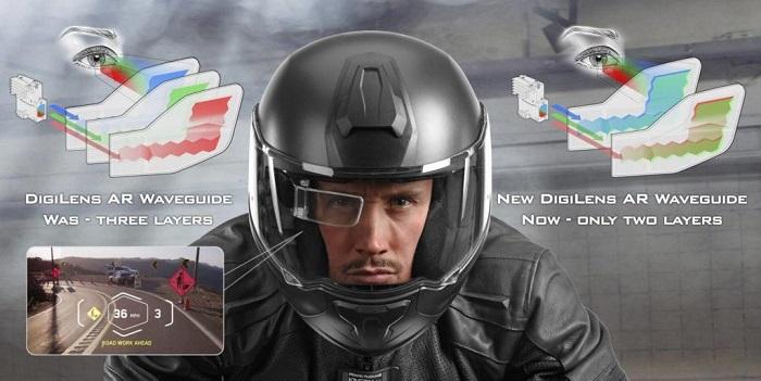 DigiLens推出双层AR显示器MonoHUD,或将应用于智能头盔