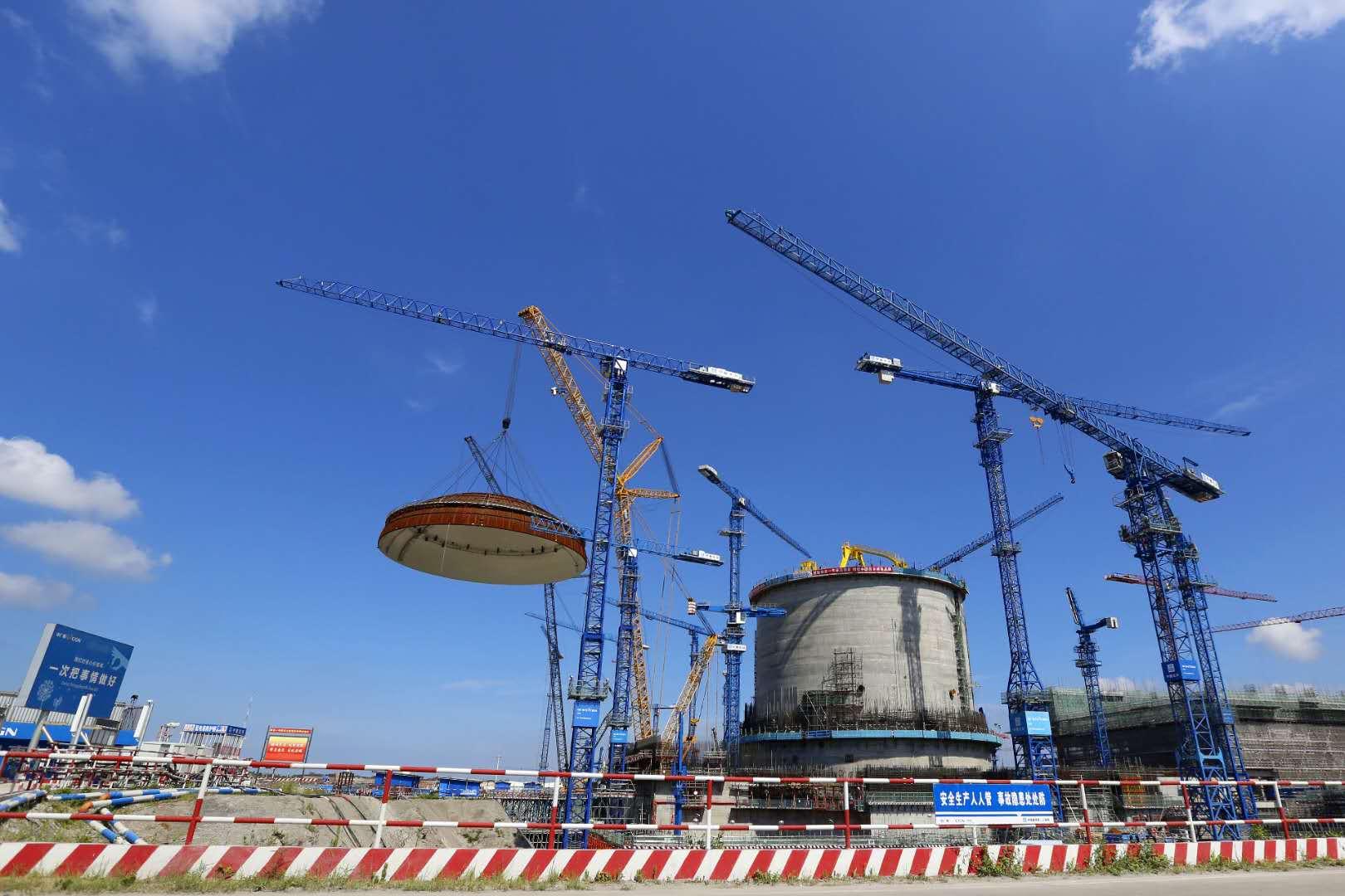 """华龙一号示范项目防城港3号机组提前""""加冕"""""""