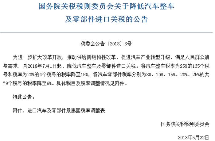 """进口关税下调:豪华车企应声""""官降"""" 零部件企业影响何在?"""