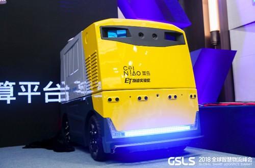 速腾聚创与菜鸟联合发布全球首款固态激光雷达无人物流车