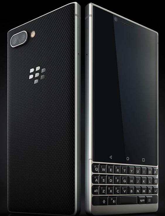 黑莓KEY2真机渲染图曝光:全键盘+后置双摄