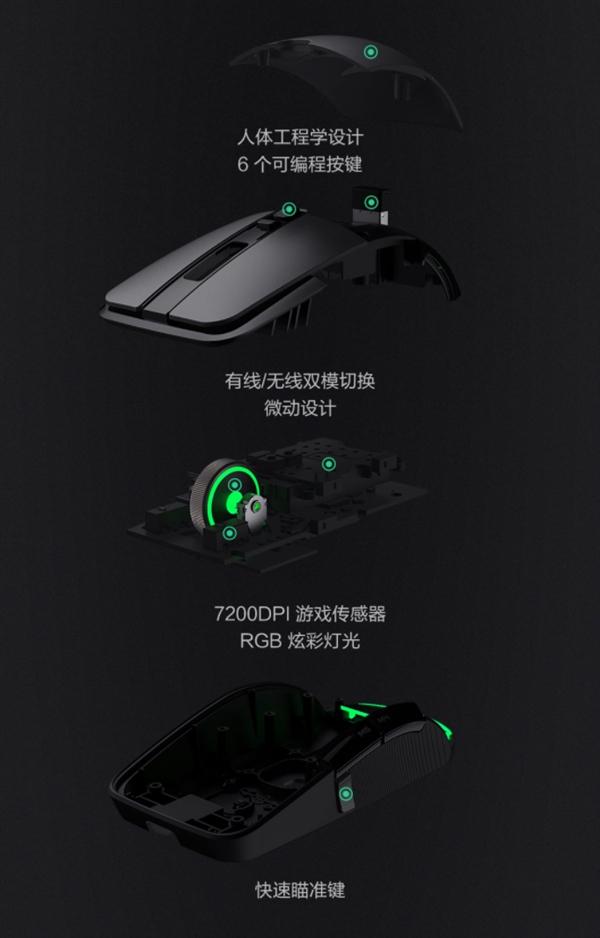 249元!小米游戏鼠标发布:有线/无线双模