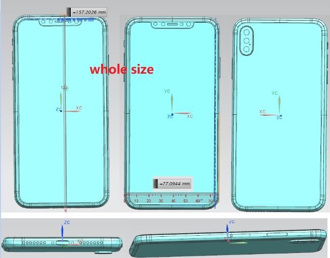 苹果内部设计图外泄:后置三摄iPhone X Plus看齐华为,6.1寸廉价版将面世