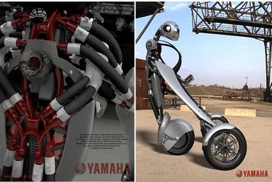 颠覆传统!雅马哈推出可穿戴软体摩托车