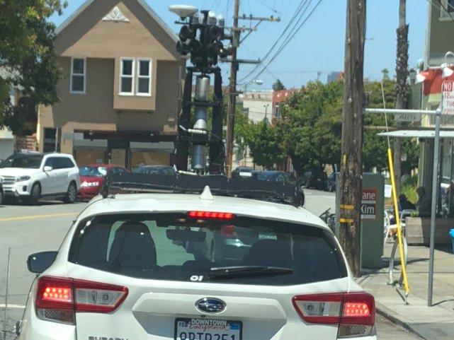 神秘怪异无人车现身洛杉矶 顶部配三层激光雷达