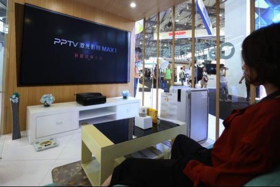 PPTV激光电视亮相CESA 获得众多关注