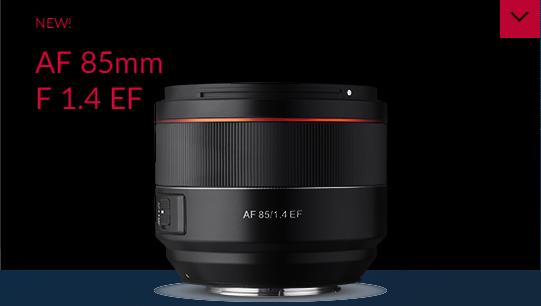 三阳发布新款AF 85mm f/1.4 EF镜头