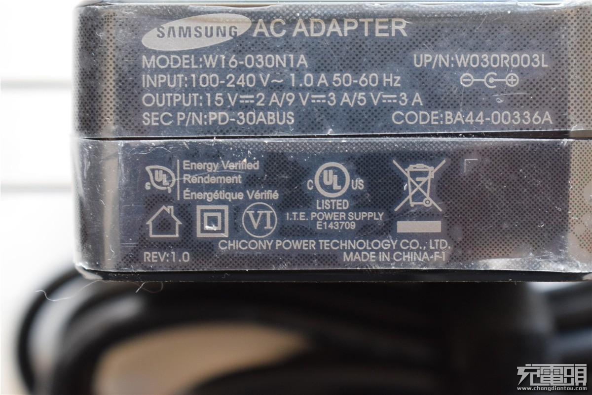 支持30W PD快充:三星推出 W16-030N1A PD充电器