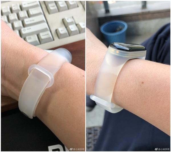 官微晒小米手环3腕带探索版:透明风格很个性