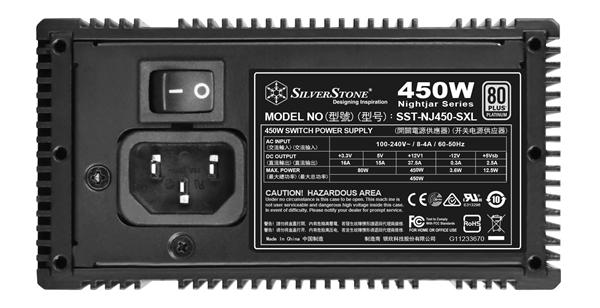 银欣首发SFX-L静音电源:450W 80PLUS白金