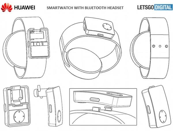 华为手表新专利曝光:可收纳蓝牙耳机