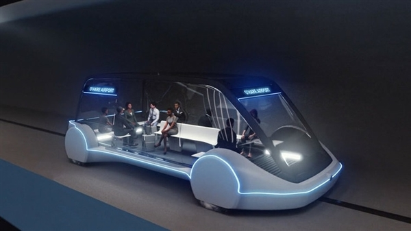 马斯克Boring公司秀芝加哥新高铁局部构造图:240Km/h