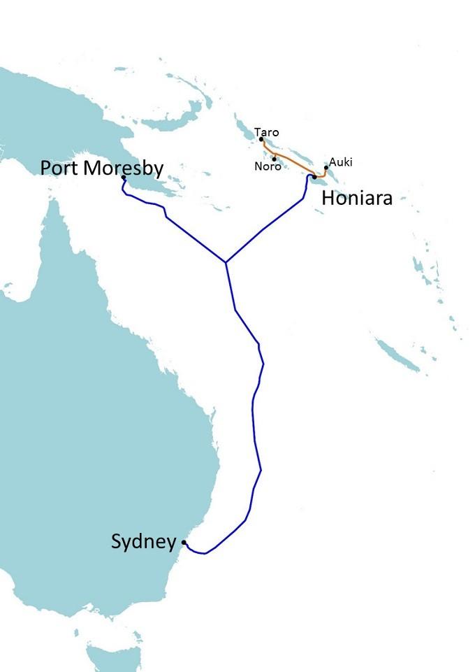 阿尔卡特海底网络承建澳洲-所罗门群岛海缆系统