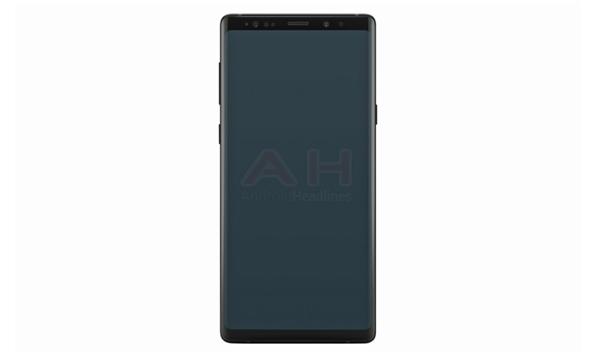 疑似三星Galaxy Note 9官方渲染图泄漏:全视曲面屏