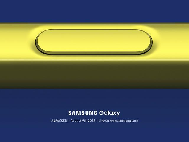 第一张三星Note9海报泄露:黄蓝撞色,摄像头变化大