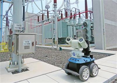 天津启用智能机器人巡网保电