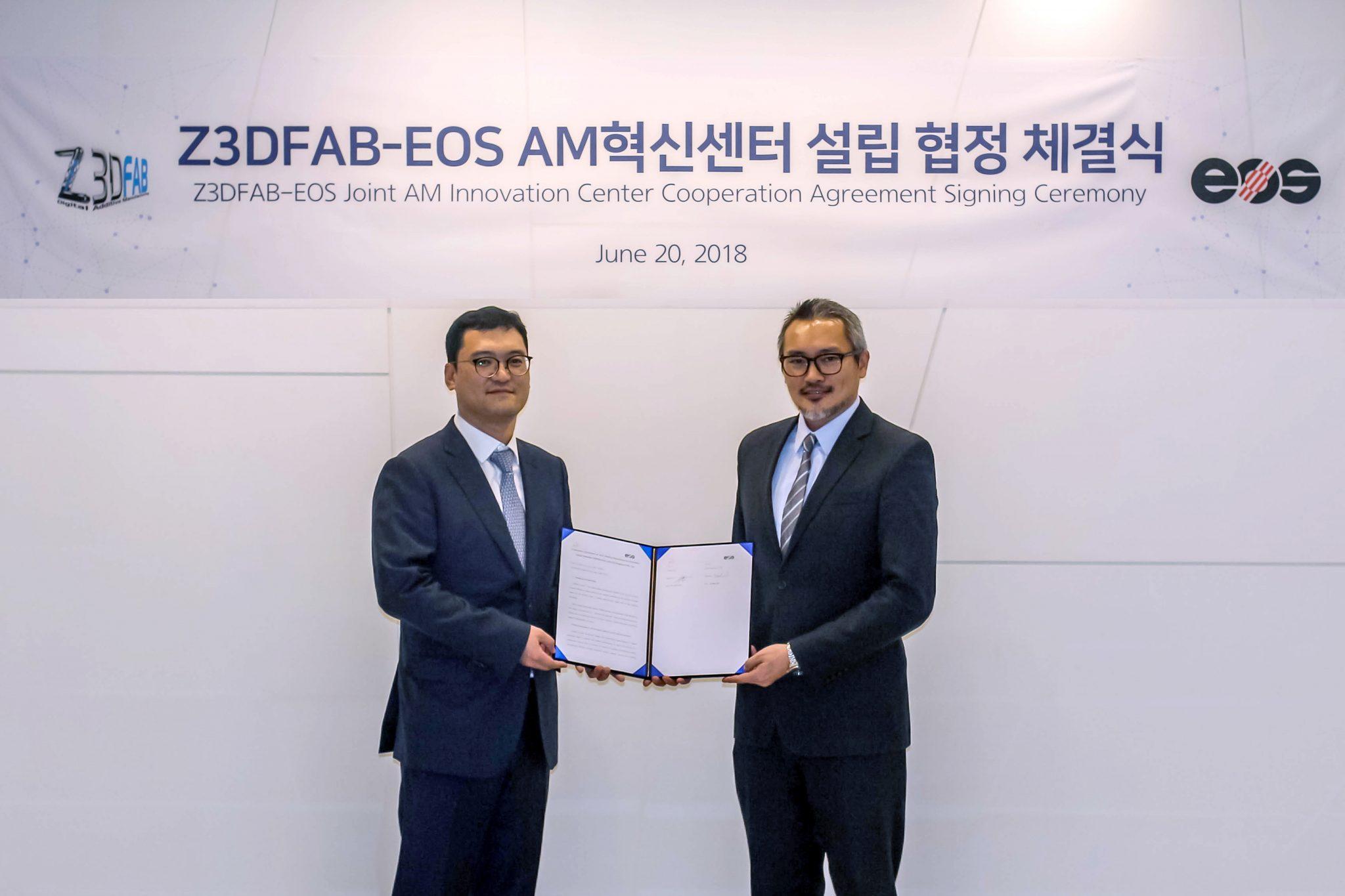 EOS和Z3DFAB合作建立韩国增材制造创新中心
