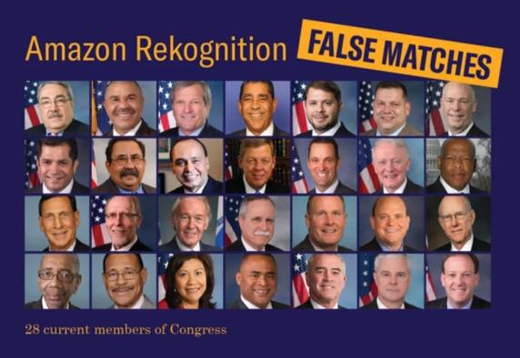 亚马逊人脸识别系统误将28名美国议员识别为罪犯