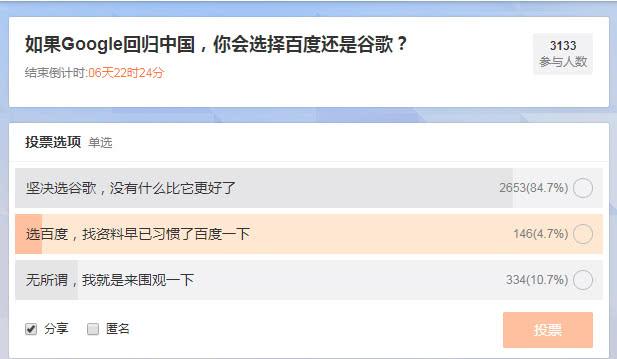 """谷歌重返中国,百度不怕?李彦宏的""""刻舟求剑式""""自信"""
