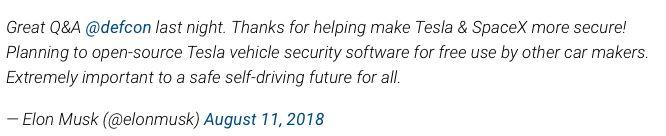 特斯拉要免费开源安全软件了 又有一波新造车跟随?