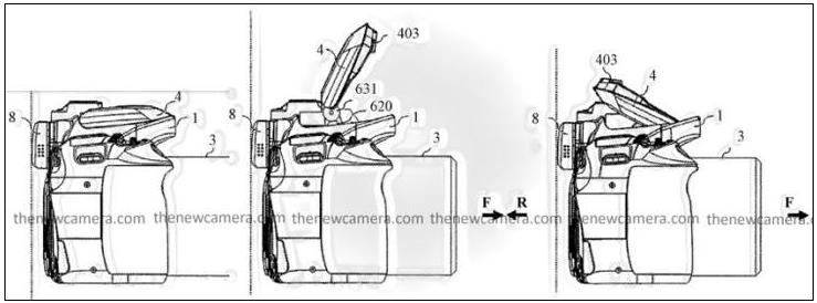 佳能相机新专利 支持跳闪功能的内置闪光灯设计