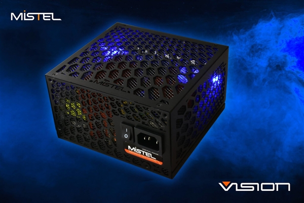 Mistel推出无风扇PC电源:80 Plus认证 自带RGB信仰灯