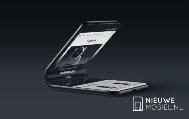 外媒发布三星概念机Galaxy F渲染图:惊艳折叠屏设计