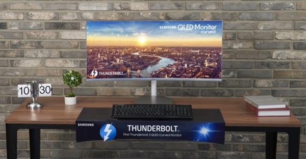 三星宣布推出CJ79:全球首款雷电3接口曲面QLED显示器