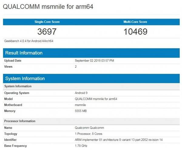 这是骁龙855 GB4跑分?单核提升54%、小幅超越麒麟980