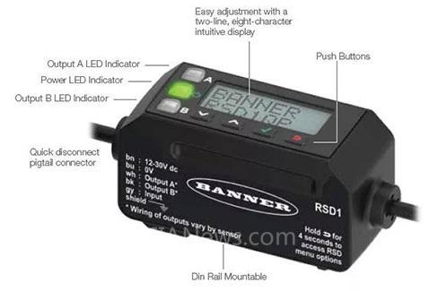邦纳推出全新LM系列激光测量传感器