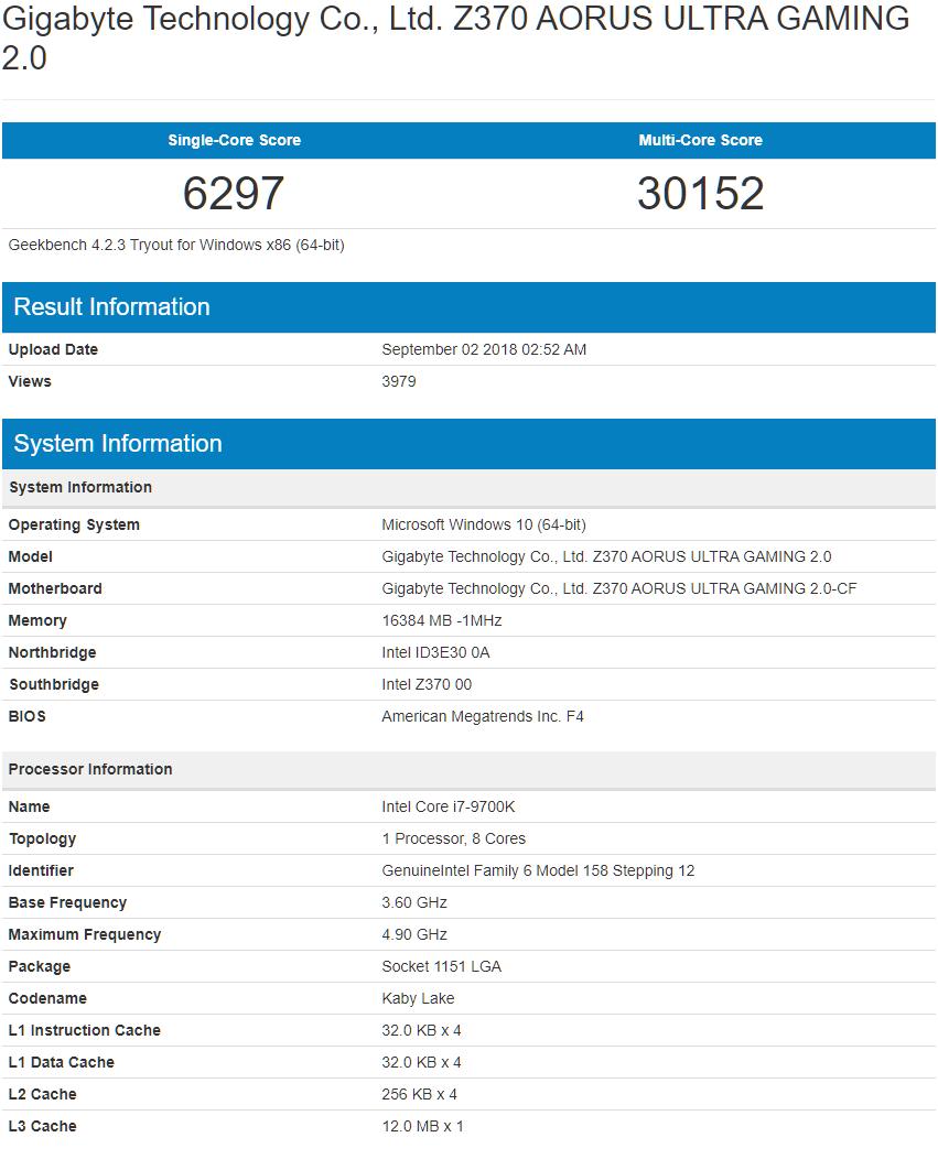 Intel 9代Core处理器跑分曝光,成绩不理想