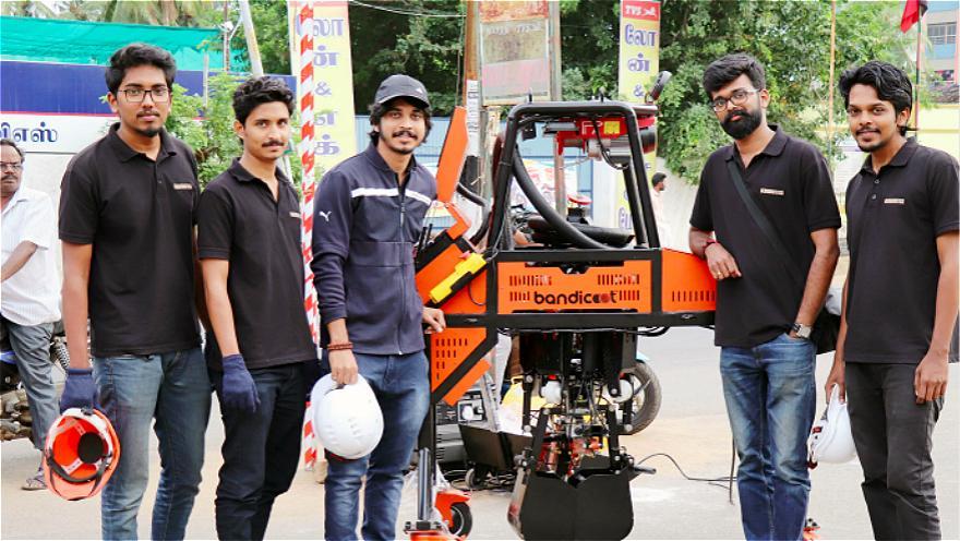 人工掏粪或将成为过去!印度创企研发下水道清洁机器人Bandicoot