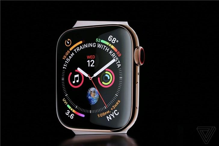 苹果Apple Watch Series 4正式发布:399美元起