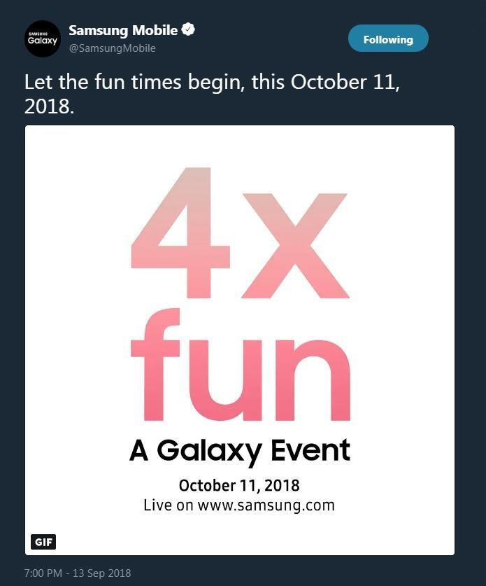 三星新机将于10月11日发布?四摄来袭?