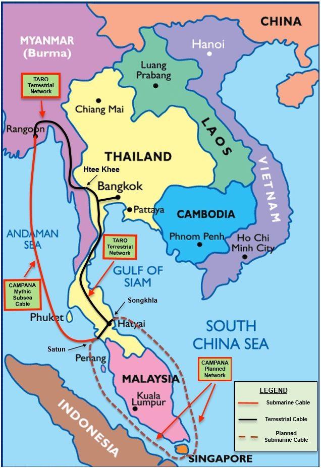 新加坡-缅甸海底光缆系统SIGMAR筹建