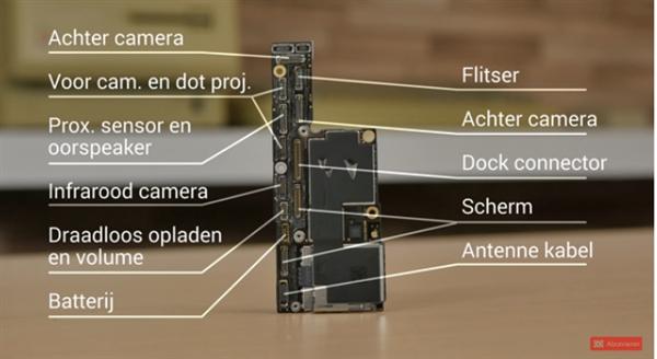 老外抢先发布iPhone XS真机拆解:电池果然比iPX容量缩水
