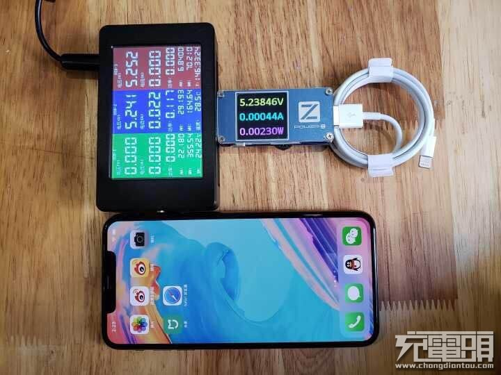 第一手iPhone XS Max USB PD快充测试