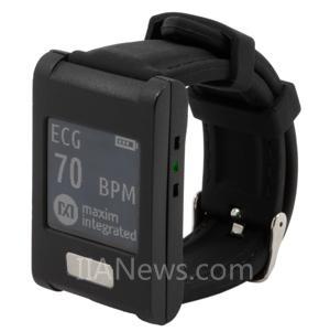 Maxim发布业内首款可监测ECG、心率及温度的腕戴式平台