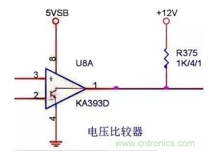运算放大器采用双晶体管推挽输出,而比较器只用一只晶体管,集电极连到