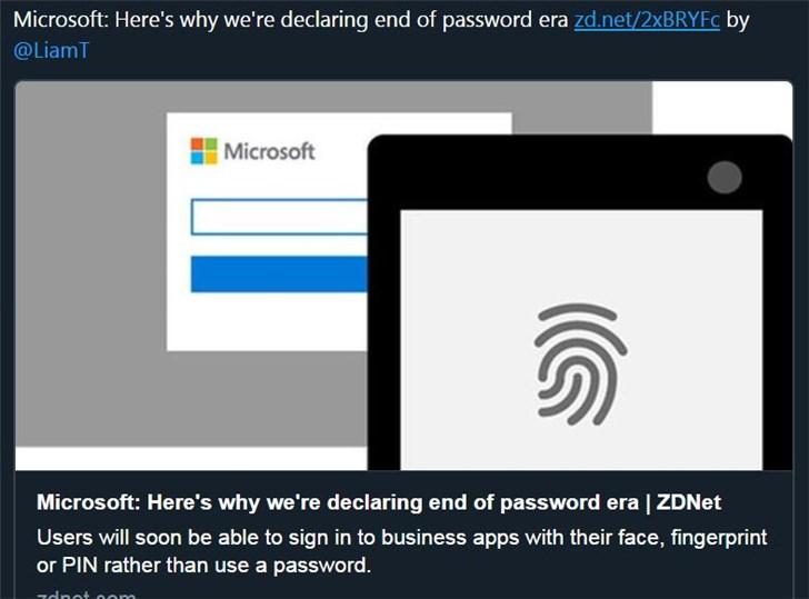微软:为什么我们宣布密码时代已结束