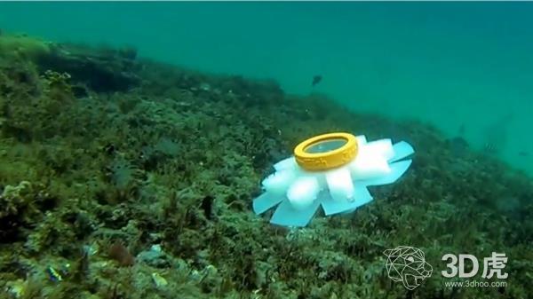 3D打印水母机器人用于监控脆弱的珊瑚礁
