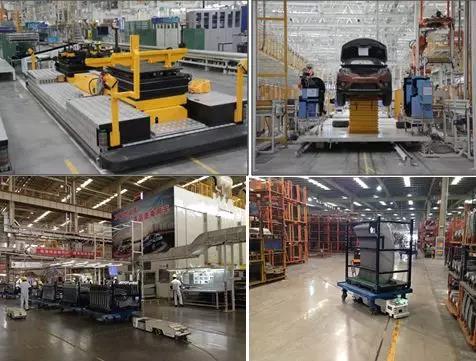 东风日产在中国工厂应用了1000台AGV