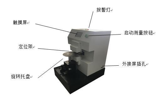 圆片周边厚度自动激光测厚仪研发