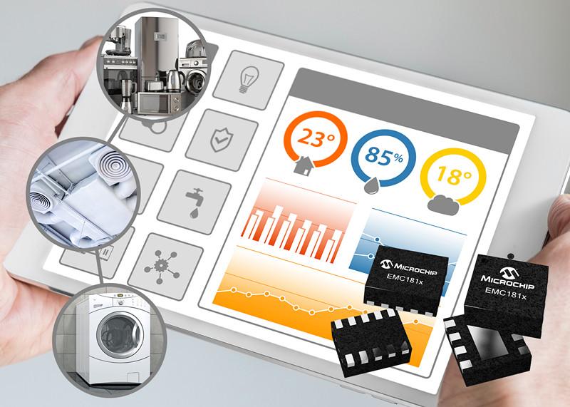 利用Microchip的低功耗1.8V温度传感器系列监控多个位置的温度