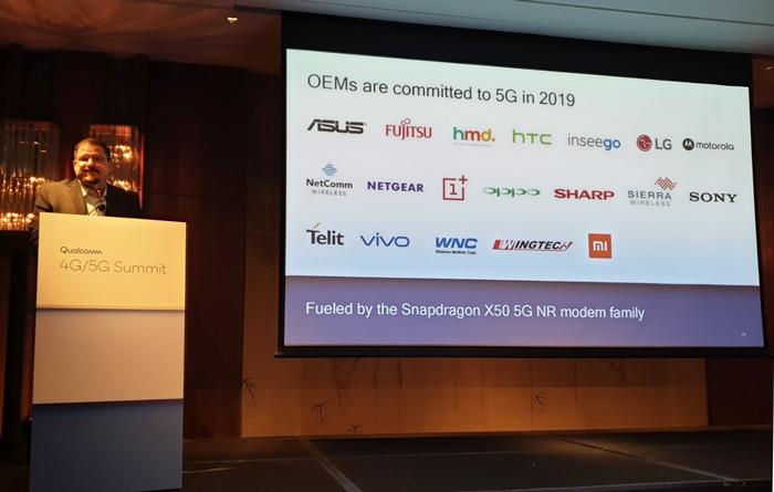 高通公布明年采用其5G基带的OEM厂商名单:小米/OV/闻泰等在列